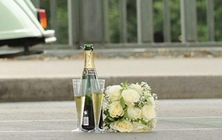 Wedding Champagne for elopement ceremonies