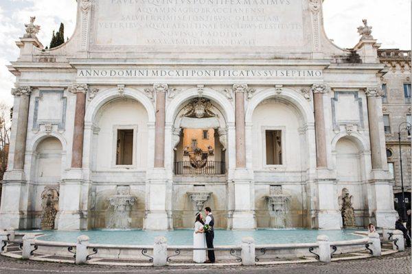 Elopement Ceremony in Fontana di Trevi, Rome