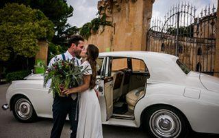 Wedding CAr in Barcelona for Elopement ceremonies