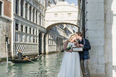 Beautiful spots to elope in Venice canals
