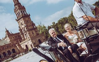 Romantic Carriage for your elopement ceremony in Seville